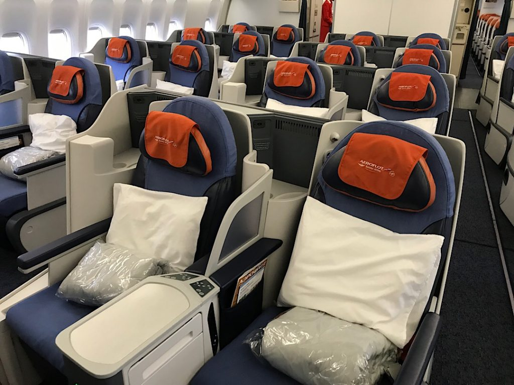 Aeroflot biznis trieda B777
