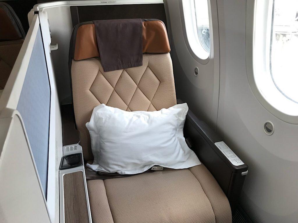Oman Air biznis trieda Boeing 787