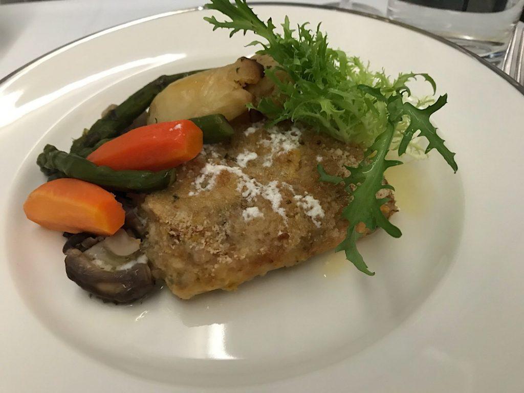 Oman Air business class meal