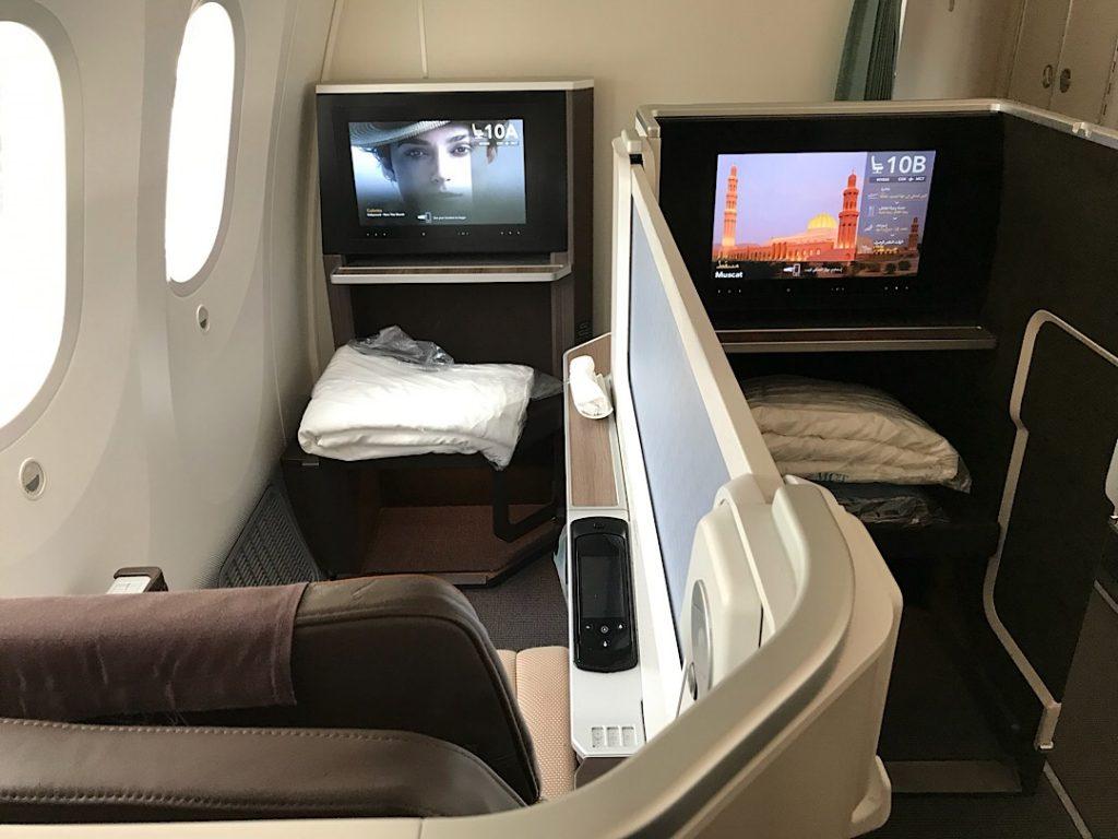 Oman Air biznis trieda do Ázie