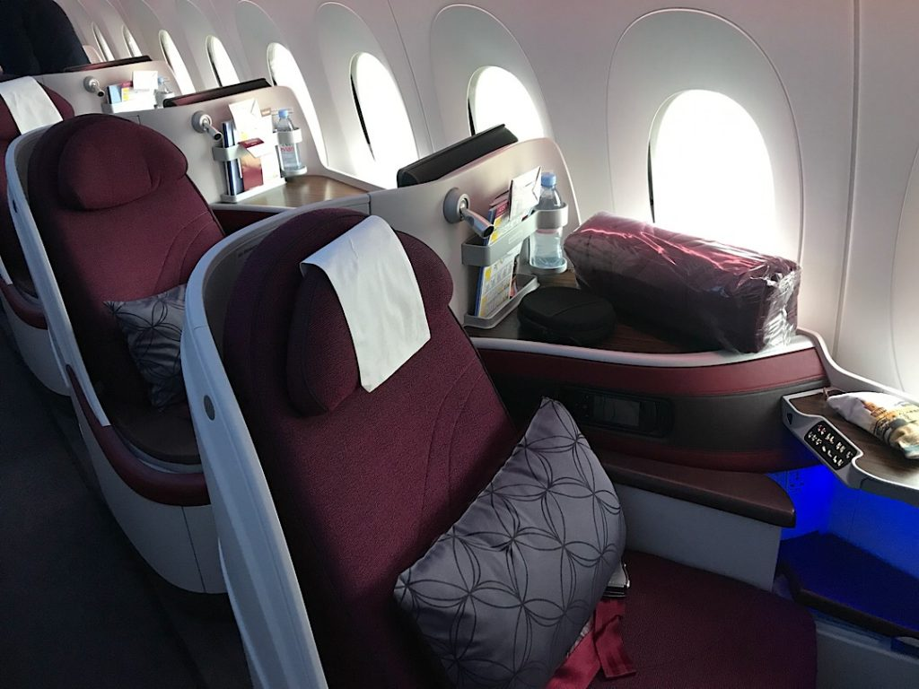 Qatar Airways business class A350